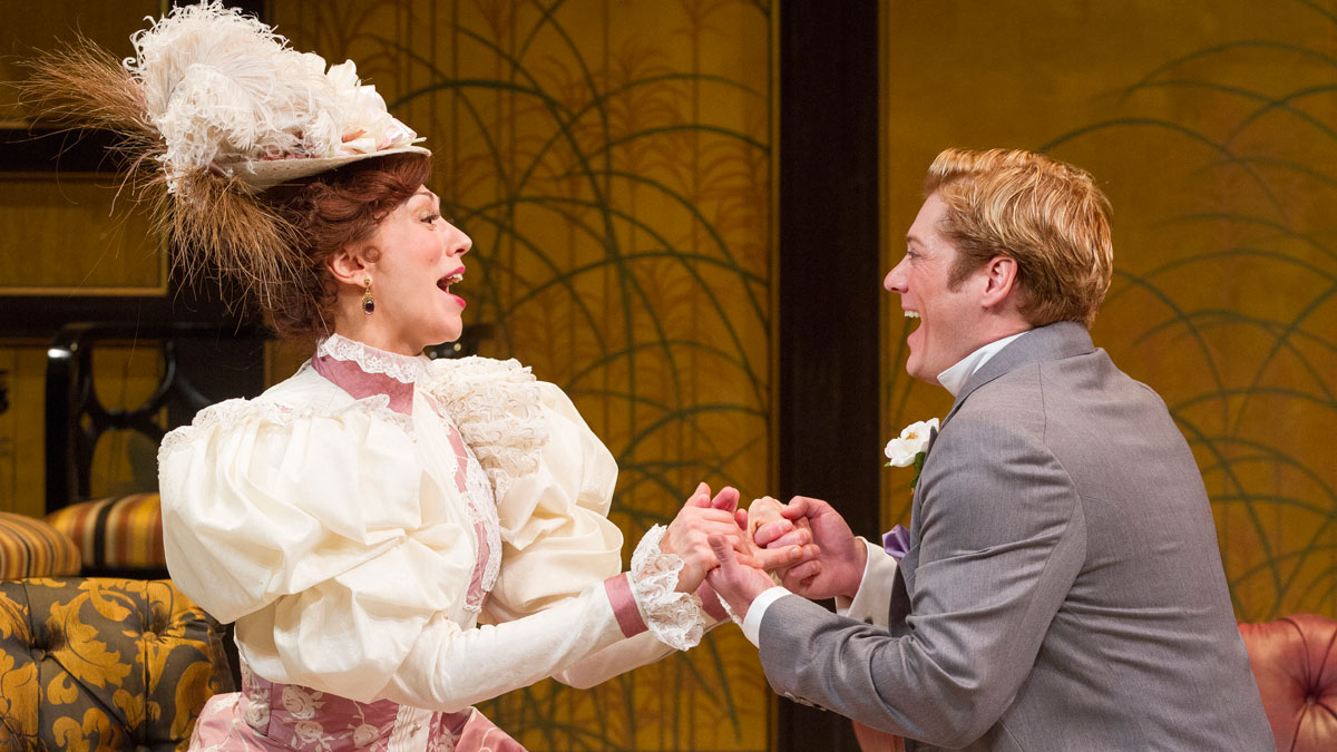 Vanessa Morosco and Gregory Wooddell in The Importance of Being Earnest, directed by Keith Baxter. Photo by Scott Suchman.