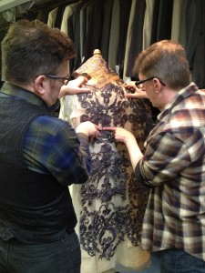 38. Murell and Randall discuss the trim for the waistcoat