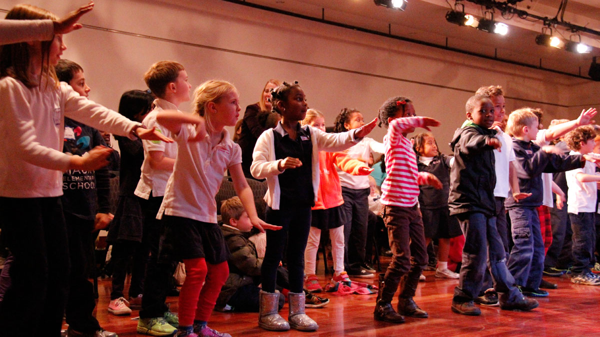 Photo of kids during performance