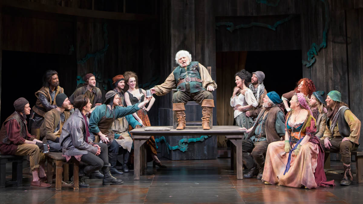 Stacy Keach and the cast of Henry IV Part 1, directed by Michael Kahn. Photo by Scott Suchman.