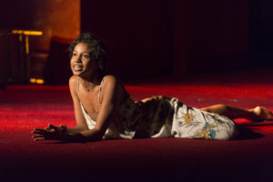 Ayana Workman as Juliet in Shakespeare Theatre Company's production of Romeo & Juliet, directed by Alan Paul. Photo by Scott Suchman.