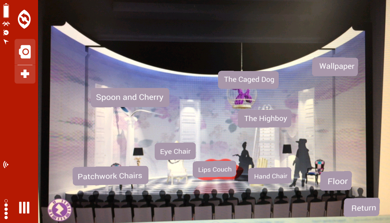 The School for Lies augmented reality lobby display using the Zappar app