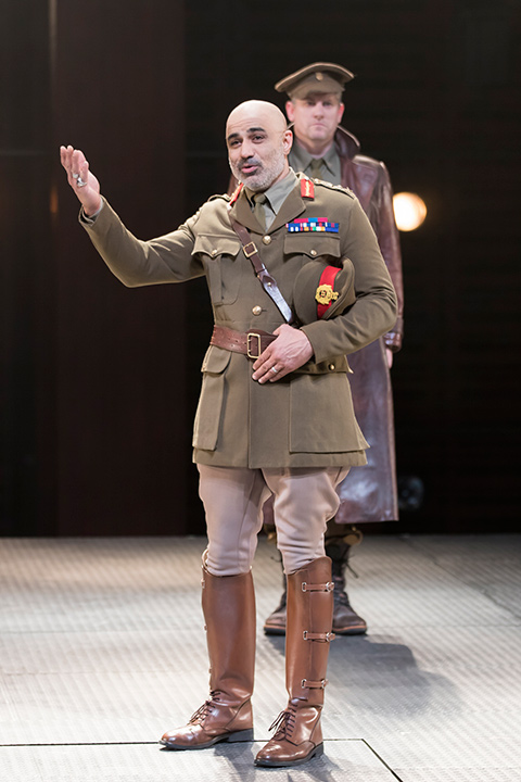 Faran Tahir as Othello and Jonno Roberts as Iago in STC's Production.