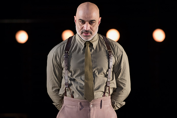 Faran Tahir as Othello in STC's Production