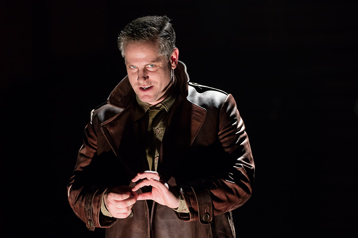 Jonno Roberts as Iago in STC's Othello