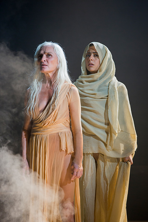 Olwen Fouéré and Nadine Malouf in Salomé at STC.