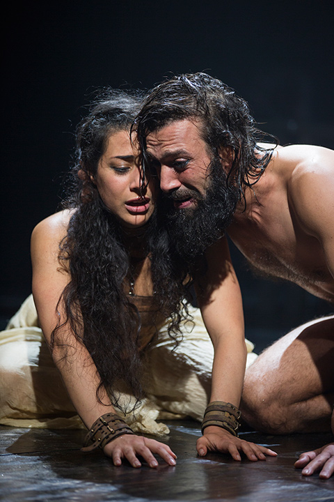 Nadine Malouf and Ramzi Choukair in Yaël Farber's Salomé at the STC.