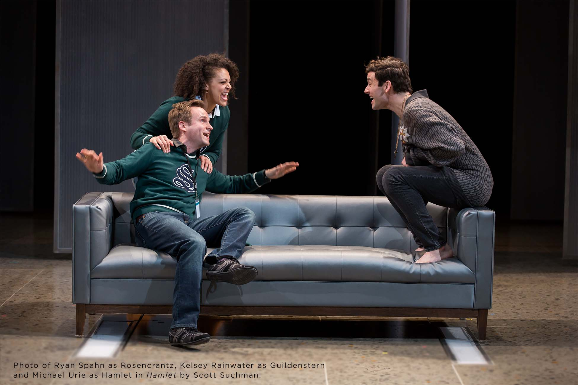 Photo of Ryan Spahn, Kelsey Rainwater and Michael Urie by Scott Suchman.