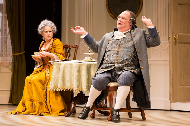 Naomi Jacobson and John Ahlin in STC's production of The Critic.