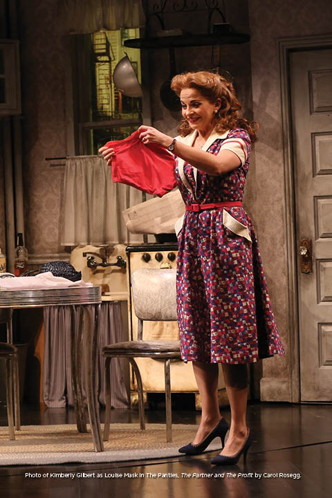 Photo of Kimberly Gilbert as Louise Mask in The Panties, The Partner and The Profit by Carol Rosegg.