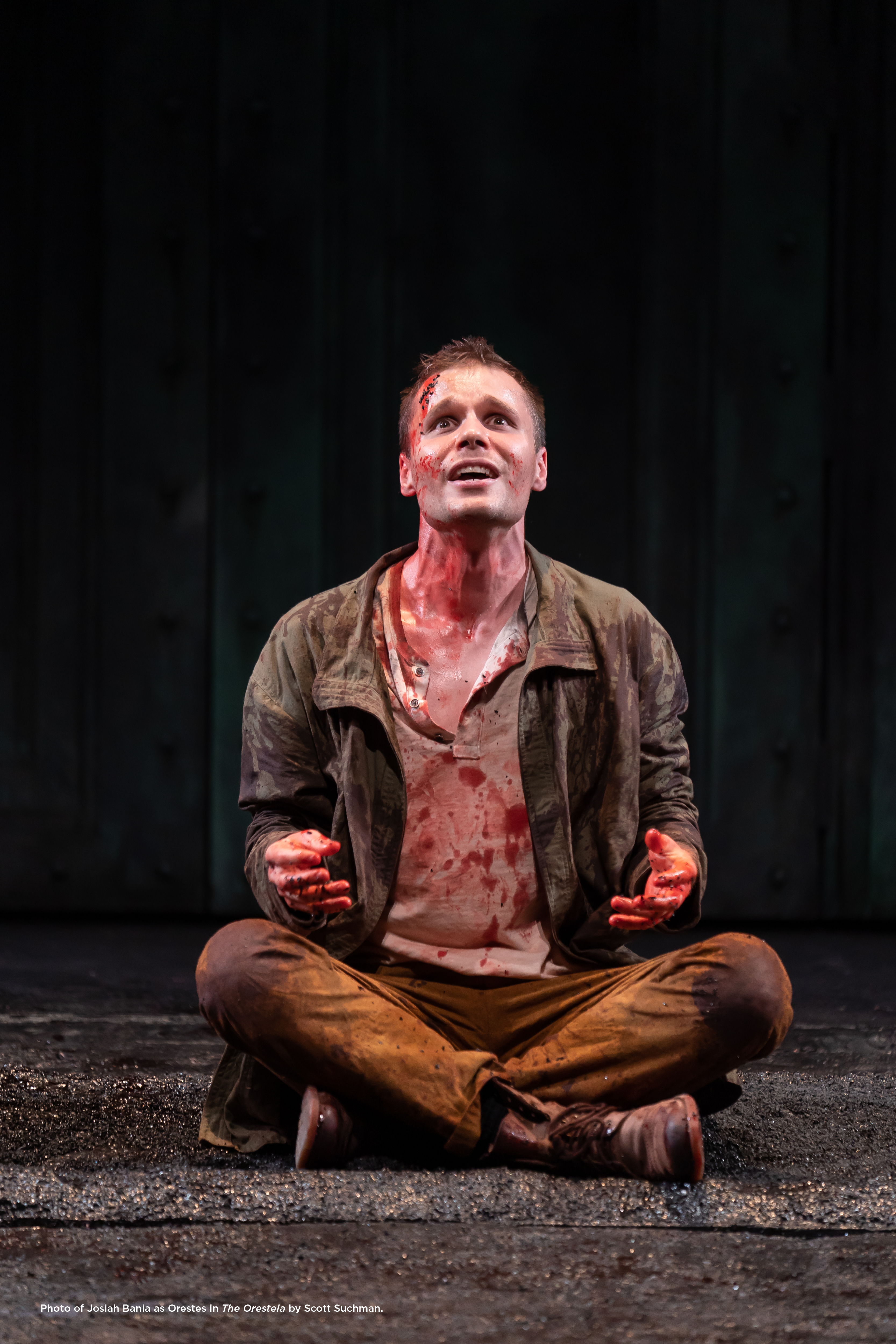 Photo of Josiah Bania as Orestes in The Oresteia by Scott Suchman.