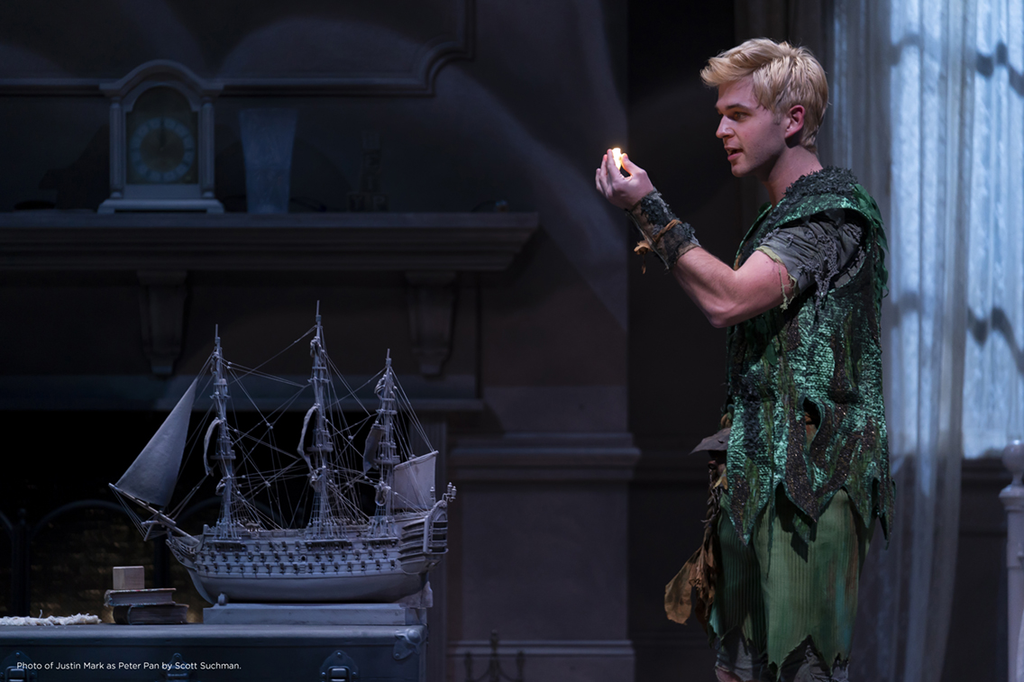 Photo of Justin Mark as Peter Pan by Scott Suchman.
