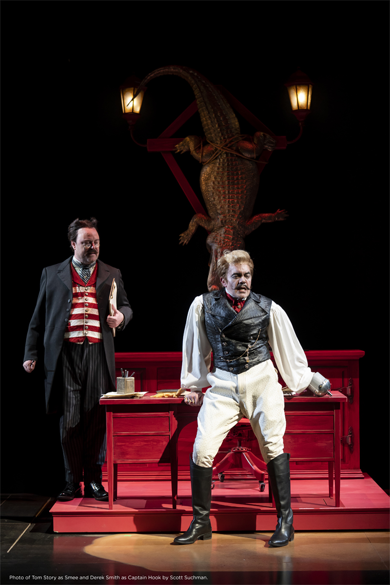 Photo of Tom Story as Smee and Derek Smith as Captain Hook by Scott Suchman.