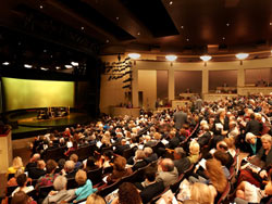 Photo of the Michael R. Klein Theatre by Kevin Allen.