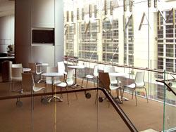 The Mezzanine-Level Lobby of Sidney Harman Hall.