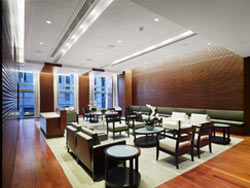Photo of the Patrons Lounge by Tom Arban.