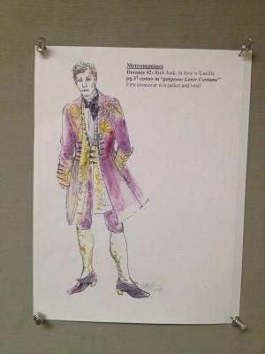 1.costume rendering of Dorante