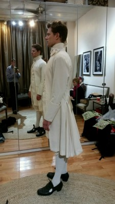 24. Tony, first muslin mock-up fitting, NYC