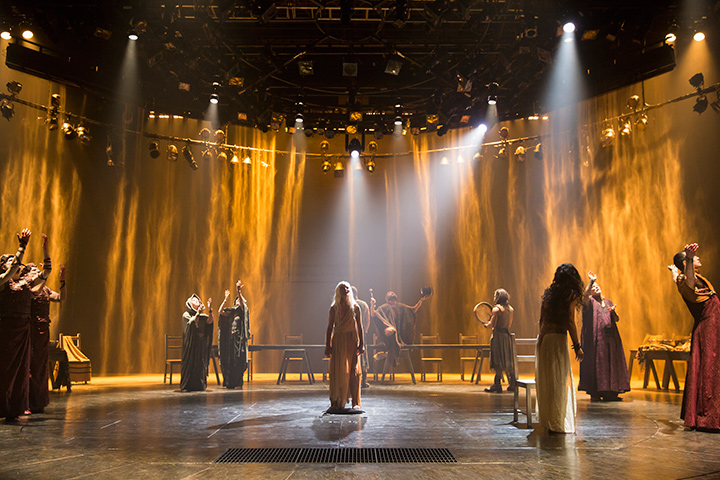 The cast of Yaël Farber's Salomé at the Shakespeare Theatre Company.