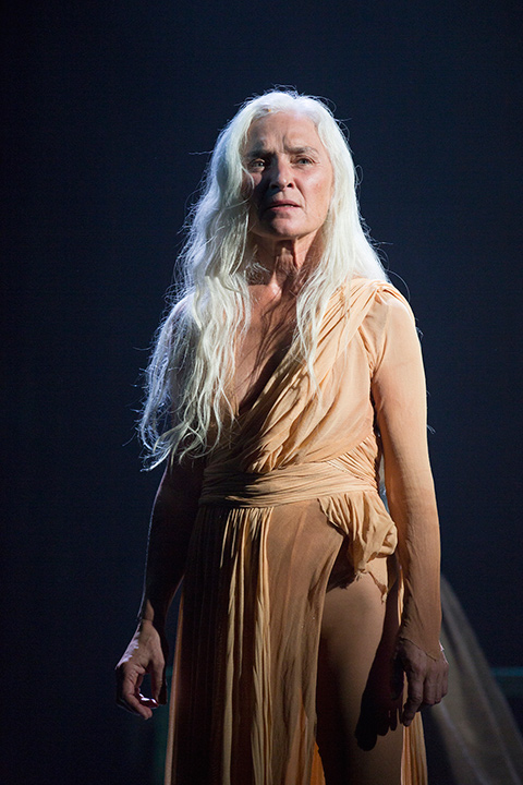 Olwen Fouéré as Nameless Woman in Yaël Farber's Salomé at the Shakespeare Theatre Company.