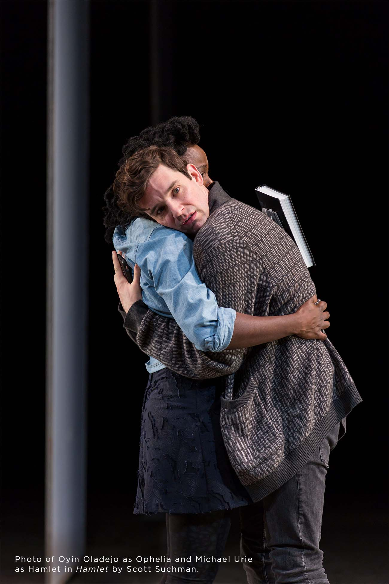 Photo of Oyin Oladejo and Michael Urie by Scott Suchman.