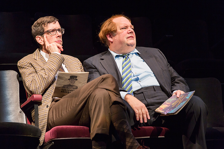 Robert Stanton and John Ahlin in STC's production of The Real Inspector Hound