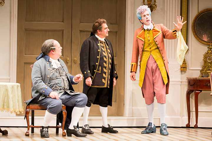 John Ahlin, Robert Dorfman, and Robert Stanton in STC's production of The Critic.