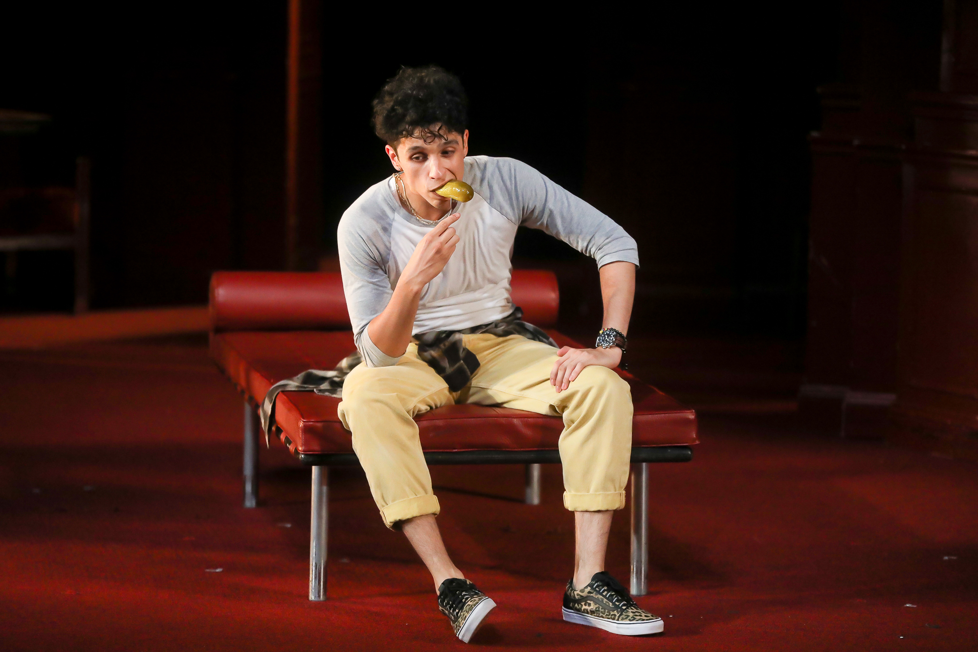 Photo of Sebastian Chacon as Benvolio in Romeo & Juliet by Tony Powell.